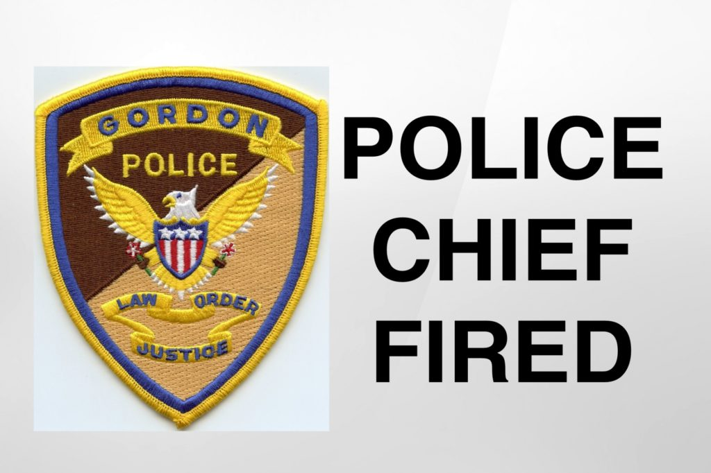 Police chief fired in Gordon