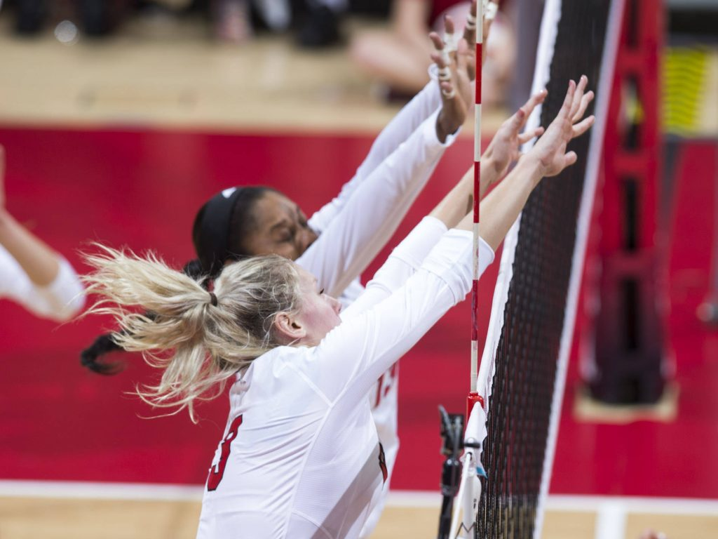 Block Spurs No. 7 Huskers to Sweep at Michigan
