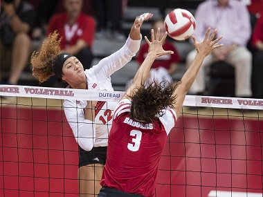 Huskers Fall at Wisconsin in four sets