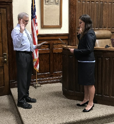 District Judge Andrea Miller sworn in