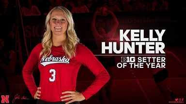 Hunter Leads Huskers' All-Big Ten Honorees