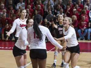 Husker Volleyball beats Ohio State in 4