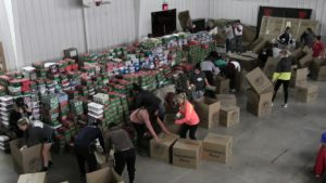 Operation Christmas Child loads over 4,600 shoeboxes