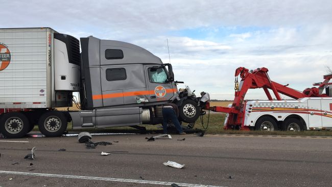 (VIDEO) One transported in interstate semi crash near York
