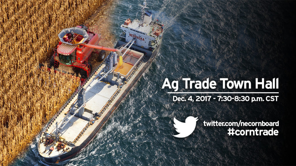 Nebraska Corn Board to talk ag trade during Twitter town hall meeting