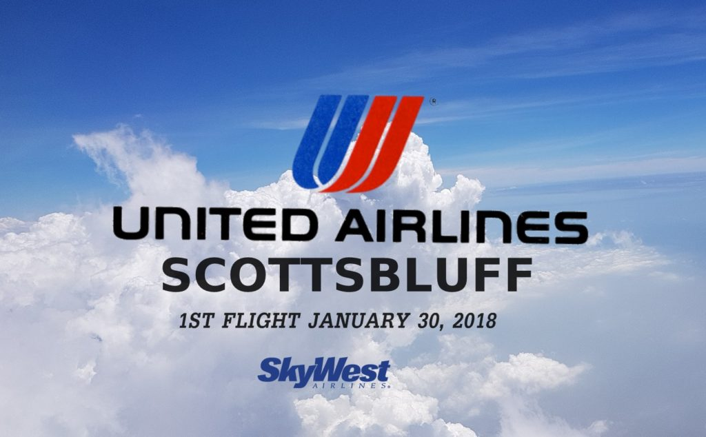United Airlines sets January 30th for first Scottsbluff flight