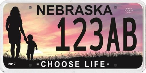 "Gov. Ricketts Unveils ""Choose Life"" License Plate Design"