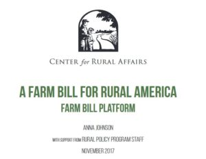 CFRA Releases Priorities for '18 Farm Bill