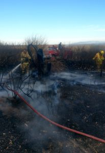 Area fire departments battle blaze