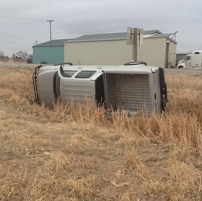Rollover accident occurred near Darr Thursday afternoon