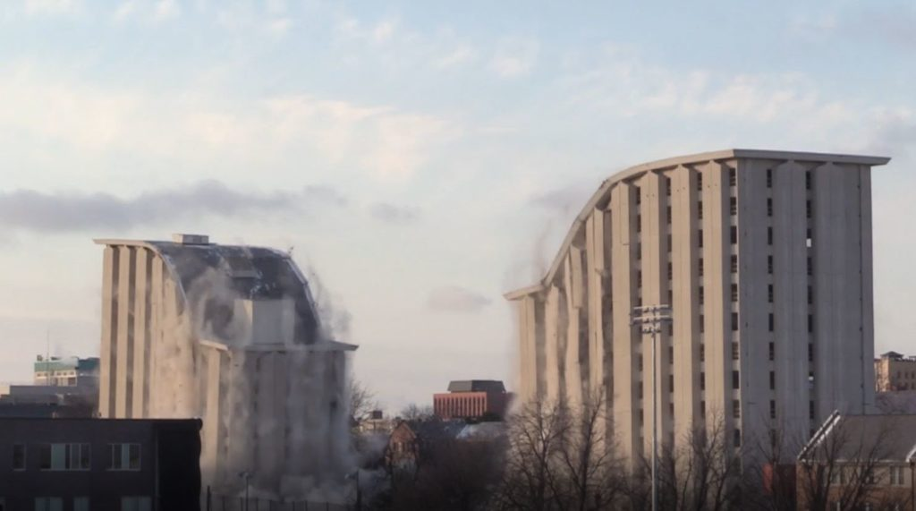 (Video) Cather and Pound halls at UNL are imploded