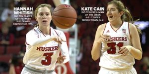 Husker Women Sweep Big Ten Weekly Honors