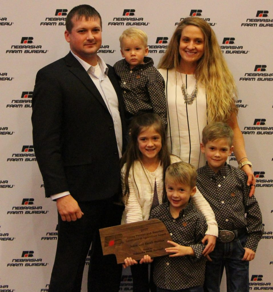 Jason and Karah Perdue Take Home Nebraska Farm Bureau's Excellence in Agriculture Award