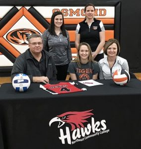 Osmond standout to play volleyball at Northeast
