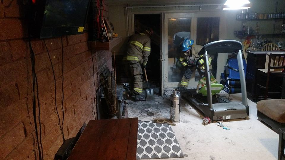 Man treated for smoke inhalation due to rural fire