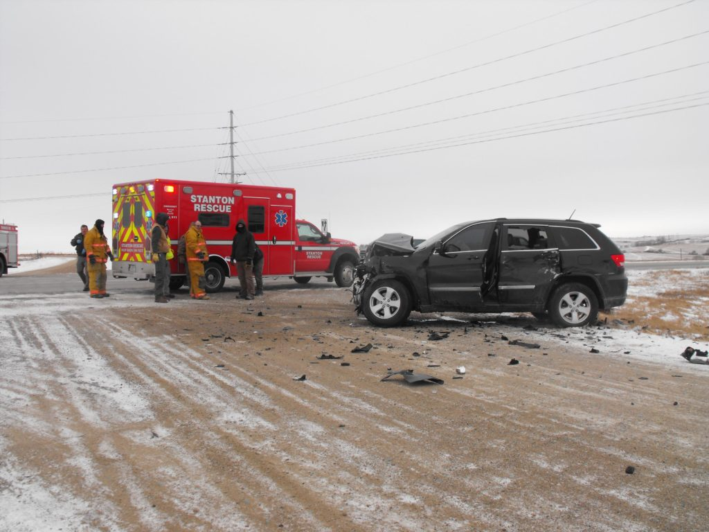Accident Near Stanton Sends Driver To Hospital
