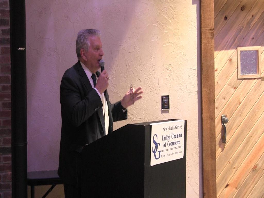 Senator Stinner and Lt. Governor Foley speak at Chamber's Pre-Legislative Breakfast