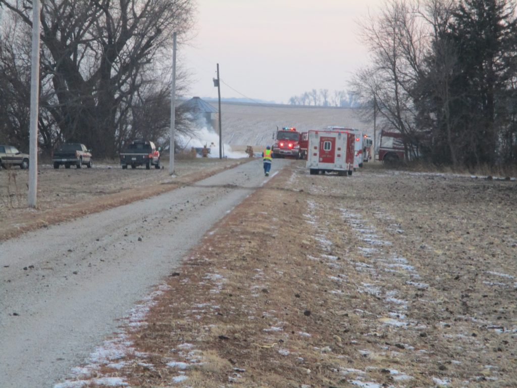 Structure fire reported in rural West Point