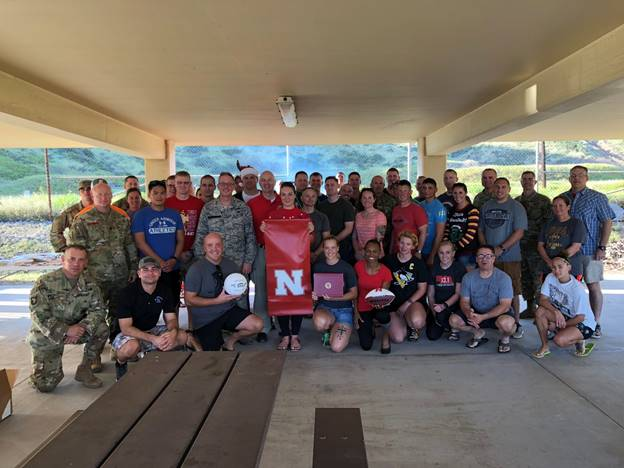 Gov. Ricketts Visits NE National Guard at Guantanamo Bay
