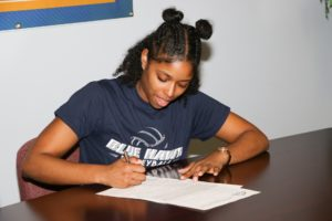 WNCC's Marshall inks with Dickinson State for volleyball, track