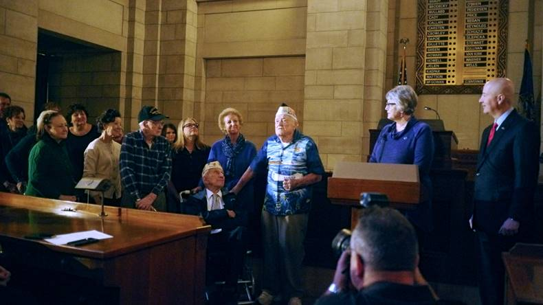 Gov. Ricketts Honors Nebraska's Pearl Harbor Survivors with Proclamation