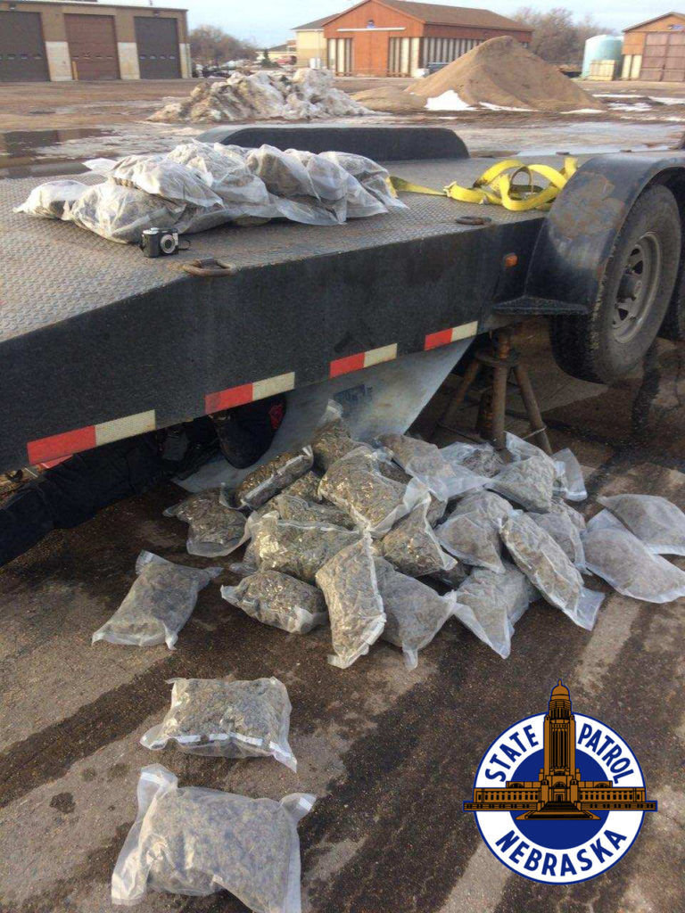 Troopers Find Marijuana Falling From Trailer