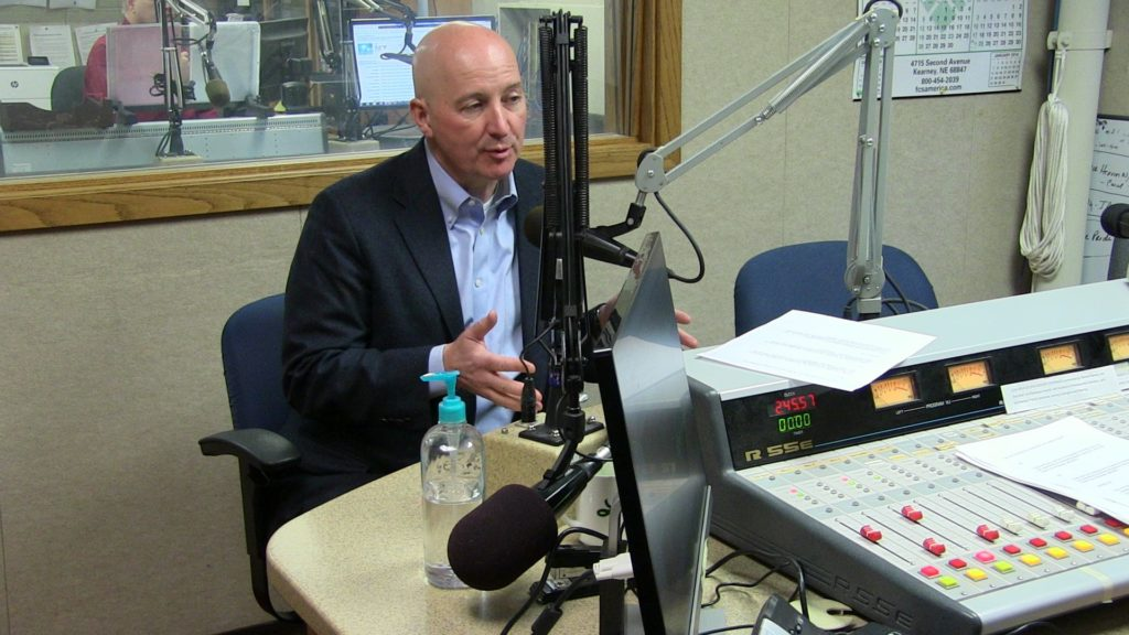 (VIDEO) Gov. Ricketts interviews at KRVN Radio Wednesday
