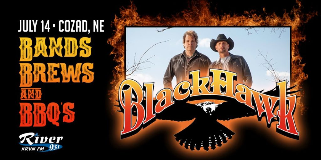 Blackhawk to play Cozad's Bands, Brews & BBQ on July 14, 2018!