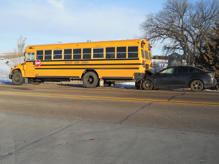 Two-vehicle accident involving school bus in Hitchcock Co.