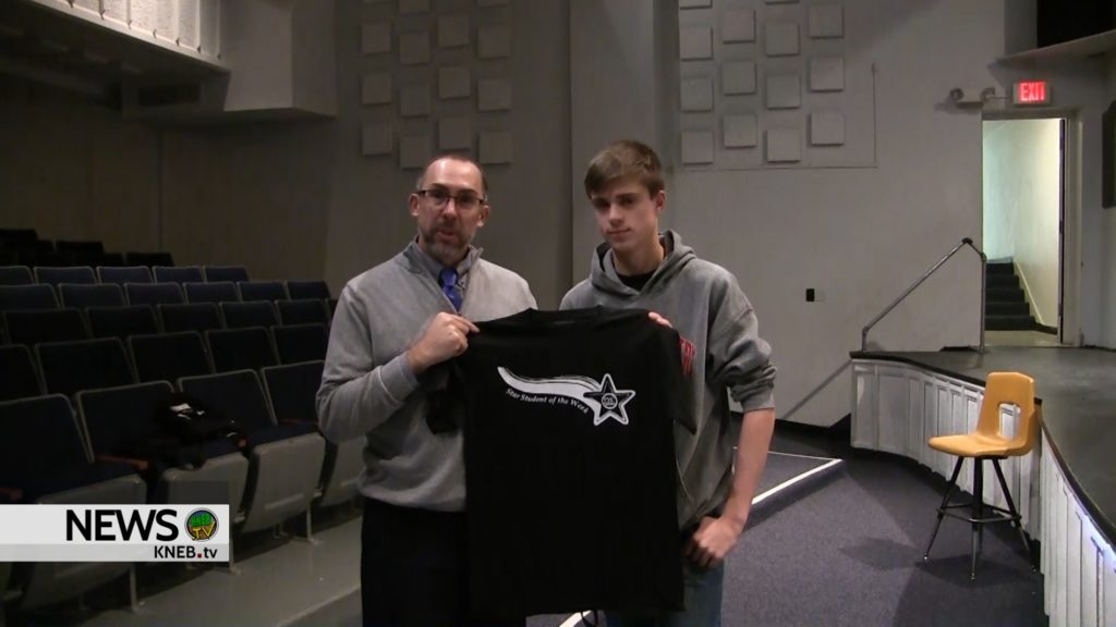 Mitchell Freshman Caden Knutson named PVC Star Student of the Week