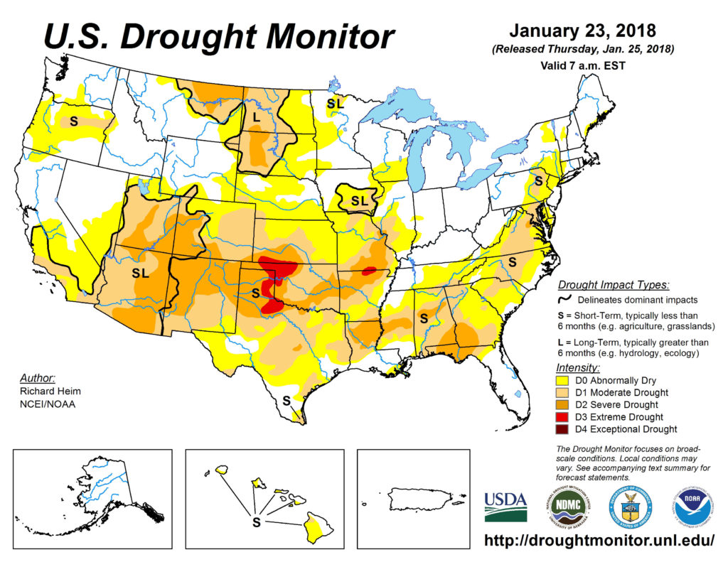 Drought Monitor: Snow provides abnormally dry regions relief