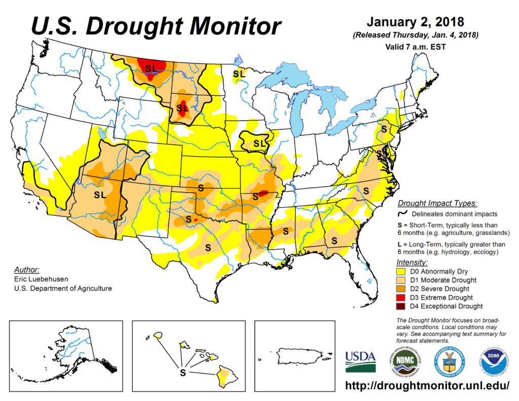 Little change in the latest the drought monitor