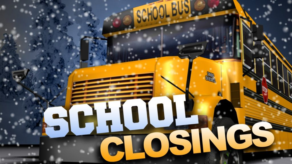 Many schools closing, starting late Monday