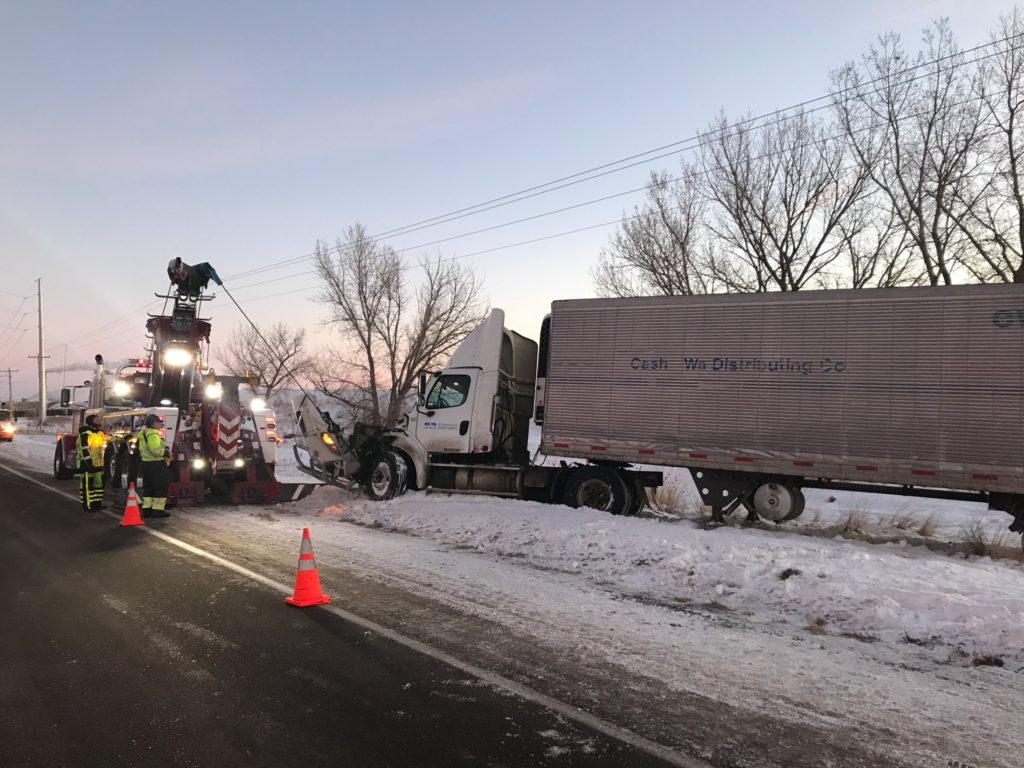 Semi driver crashes into utility pole in Scottsbluff after falling asleep at the wheel