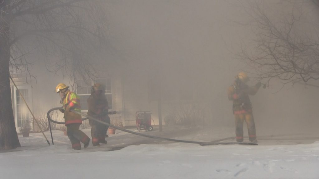 Firefighters brave frigid temperatures to combat Morrill house fire