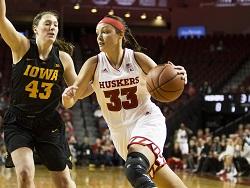 Husker women defeat Iowa