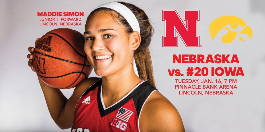 Husker women to Clash with No. 20 Hawkeyes tonight