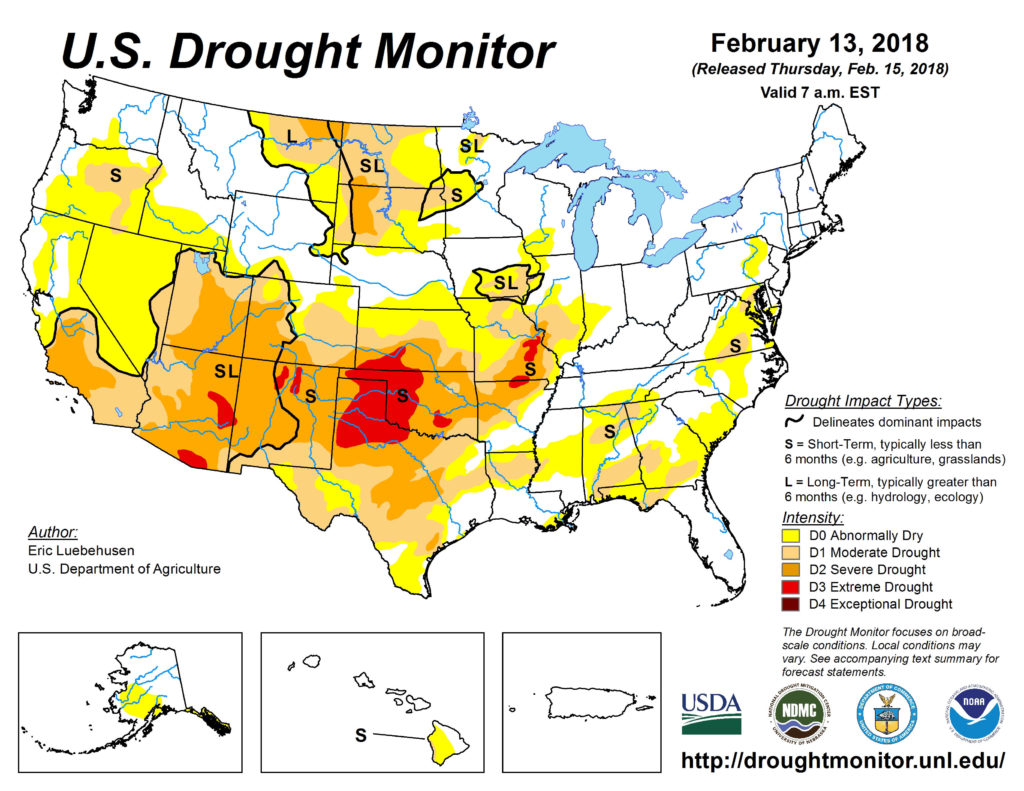 Snow supports reduction of drought conditions in the high plains