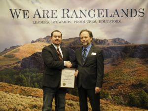 Stephenson receives award from the Society for Range Management