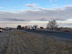 (AUDIO) Pickup vs. semi accident results in four fatalities