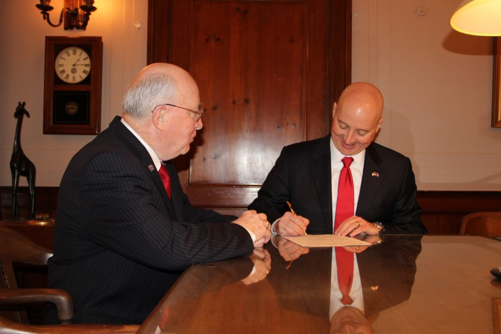 Gov. Ricketts files for second term