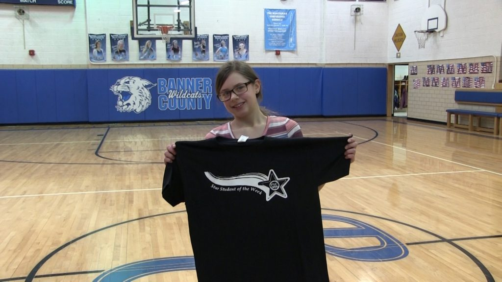 Banner County School's Lily Teeple awarded Star Student of the Week