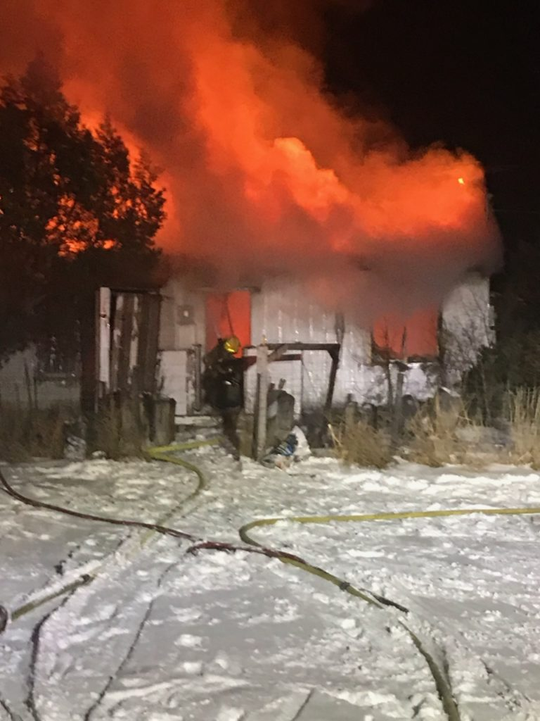 Early morning fire destroys McGrew house