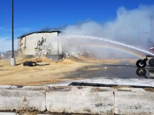 (VIDEO) Saw dust building in Cozad burned on Friday