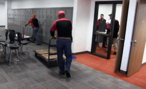Classrooms being set up Monday in new SHS Freshman Academy