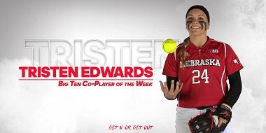 Nebraska's Edwards Earns Big Ten Weekly Award