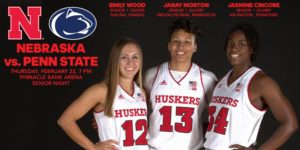 Huskers Celebrate Senior Night with Penn State