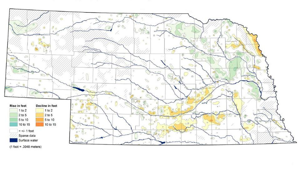 Nebraska Continues To See Modest Groundwater Decline