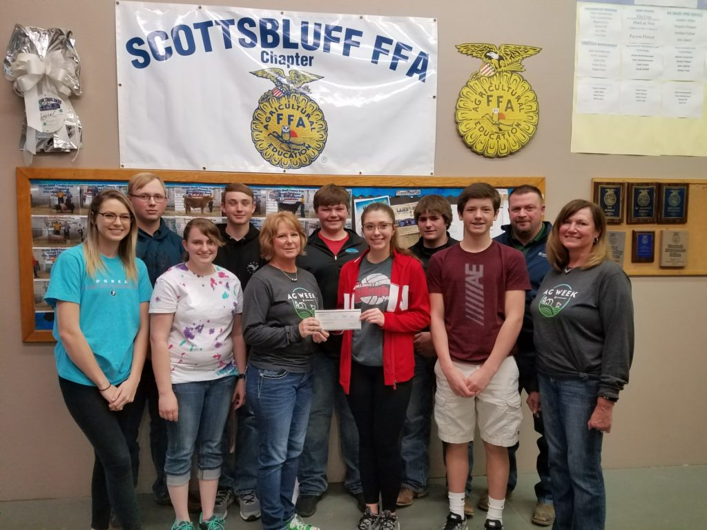 Local FFA chapters receive donations