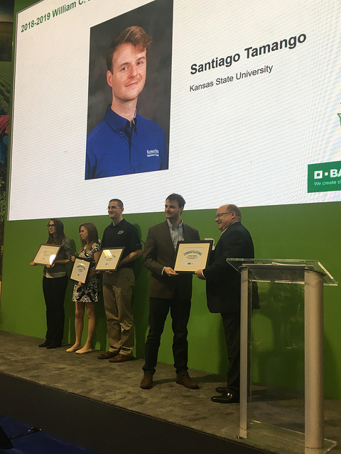 Kansas State Student Honored at Commodity Classic in Anaheim